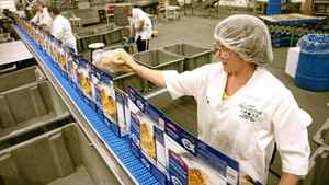 ROB, HIGH LINER SEAFOODS, LUNENBURG, NOVA SCOTIA: Workers run the assembly line package fish fillets at the High Liner Foods plant in Lunenburg, NS, March 10, 2010.