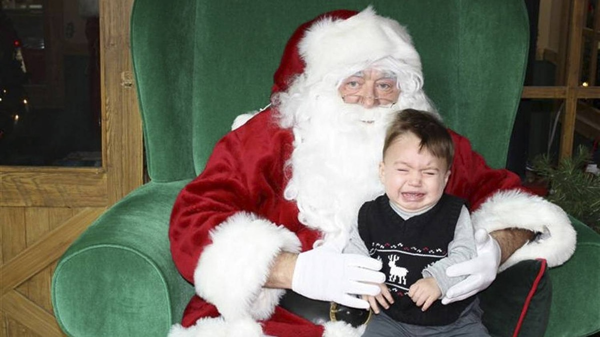 Shannon Boychuk photo: Here is 9 month old Hunter and his first visit with Santa. I think it went pretty well!!