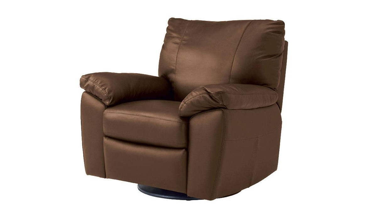 IKEA's Vreta leather armchair swivels, rocks and tilts, and comes with an adjustable back and extendable footrest. $599 through www.ikea.ca.