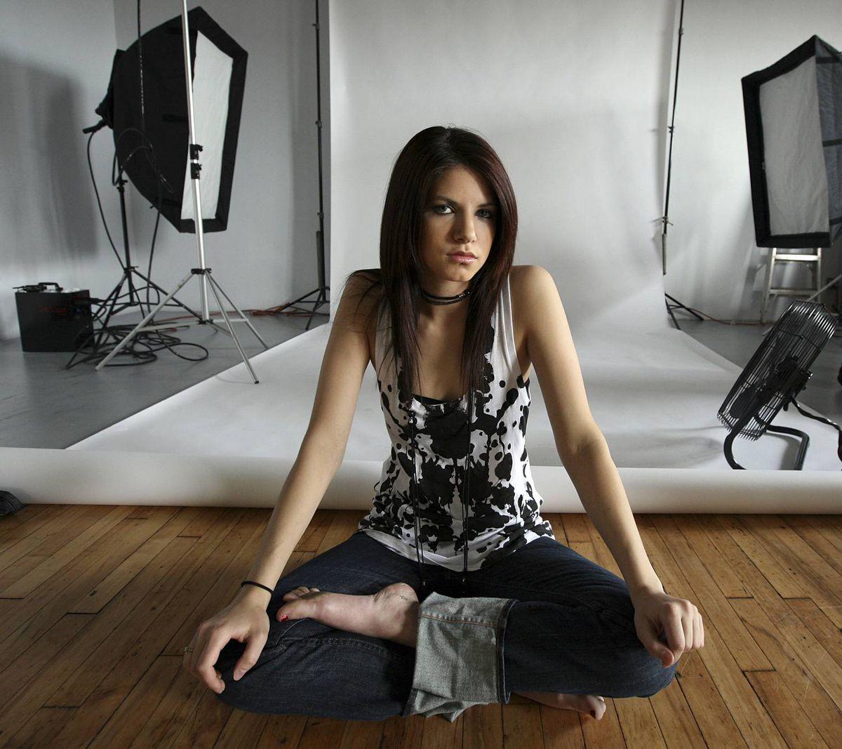 Photographer Caitlin Cronenberg in her studio.