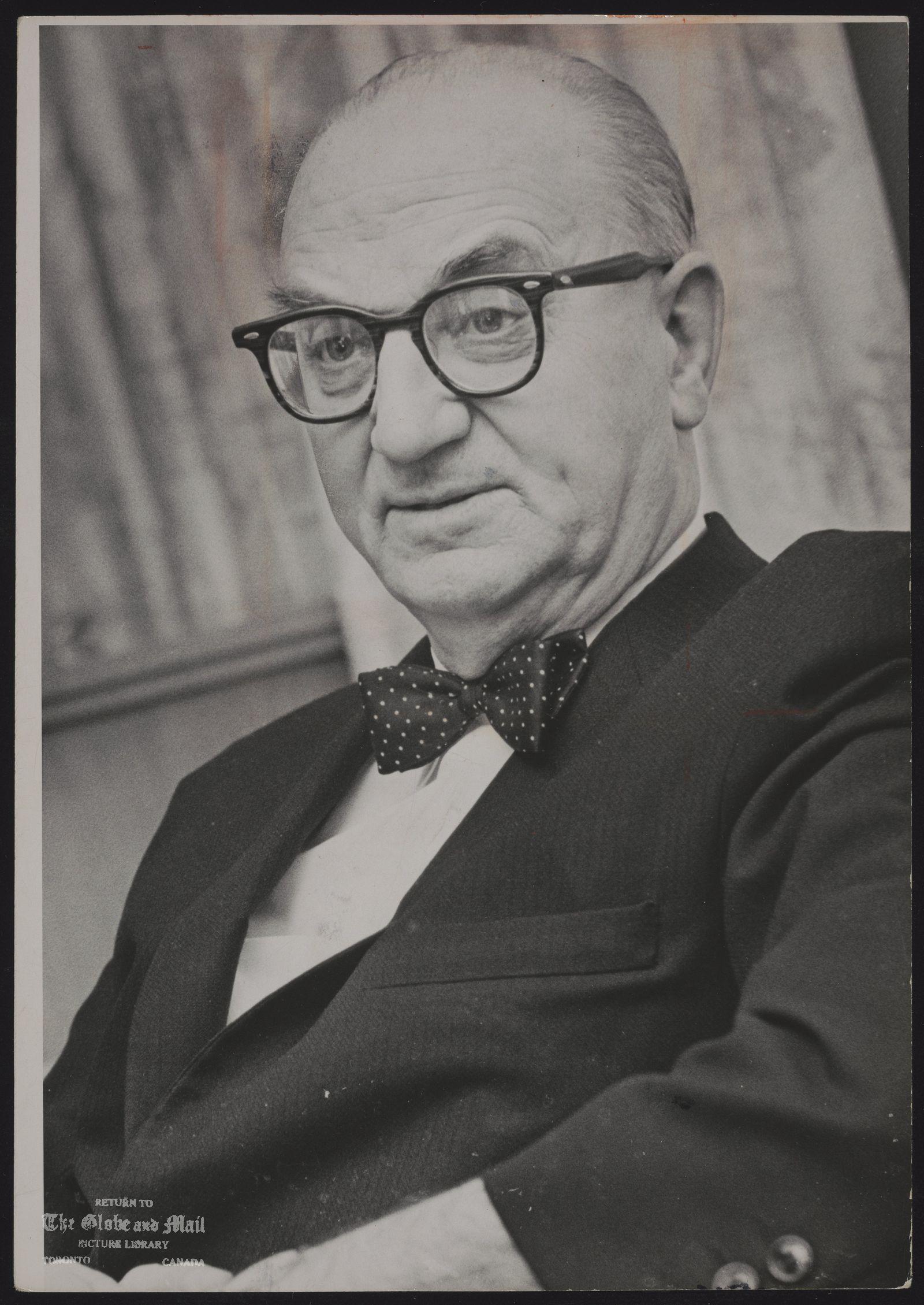 Joseph SMALLWOOD Premier Joseph Smallwood of Newfoundland
