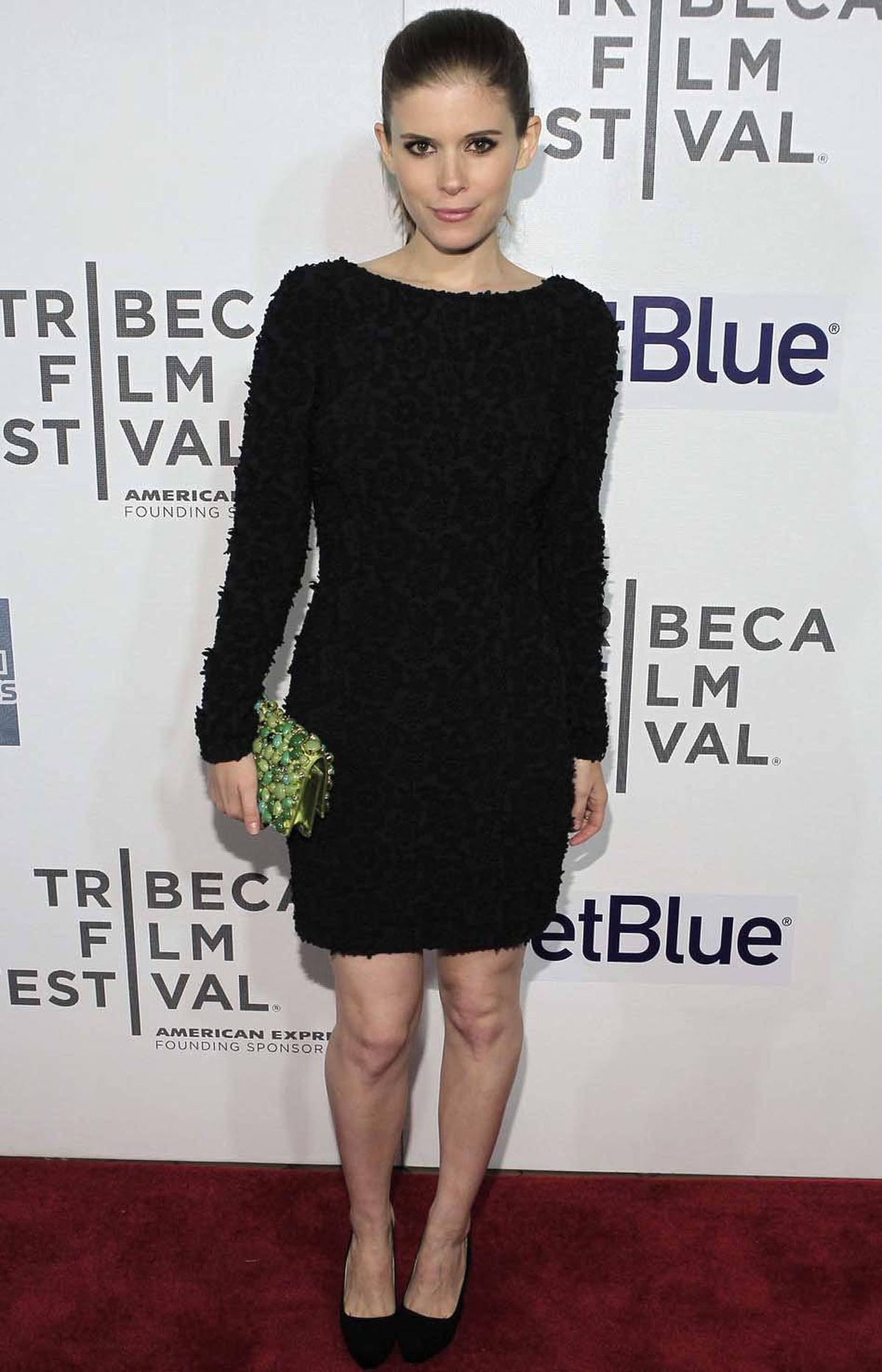 "Kate ""Not Rooney"" Mara attends the world premiere of ""Deadfall"" at the Tribeca Film Festival in New York on Sunday."