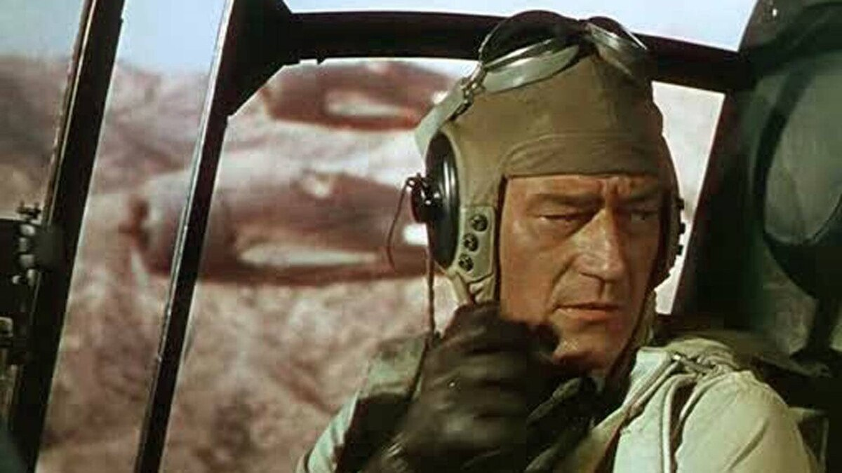 MOVIE Flying Leathernecks TCM, midnight One of the better entries in the John Wayne film canon, this 1951 actioner was filmed in glorious Technicolor and has been caringly remastered for TV broadcast. Set during the Second World War, the film casts the Duke as Major Dan Kirby, the new commander of a squadron of Marine fighter pilots. Kirby's no-nonsense approach puts him in immediate conflict with the unit's affable captain, played by Robert Ryan, and both men learn valuable lessons as the battle in the Pacific reaches fever pitch. If the war footage looks real, that's because it is.