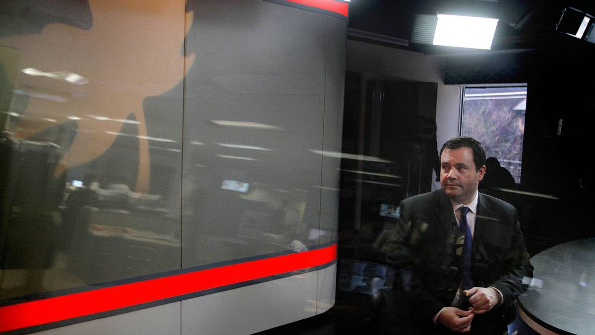 Immigration Minister Jason Kenney arrives at the offices of The Globe and Mail for an interview with the newspaper's editorial board.