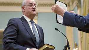 Conservative MP Julian Fantino is sworn in as minister of state for seniors during a cabinet shuffle at Rideau Hall in on Jan. 4, 2011.