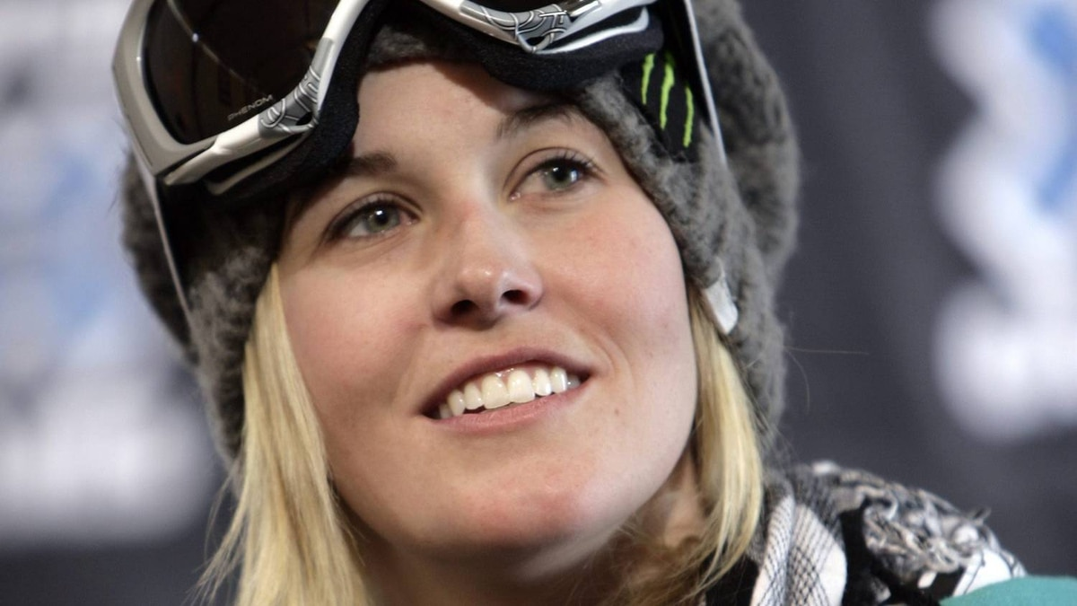 Sarah Burke of Canada looks on during a news conference at the Winter X Games on Wednesday, Jan. 21, 2009. The Burke family has announced that Canadian freestyle skier Sarah Burke has died