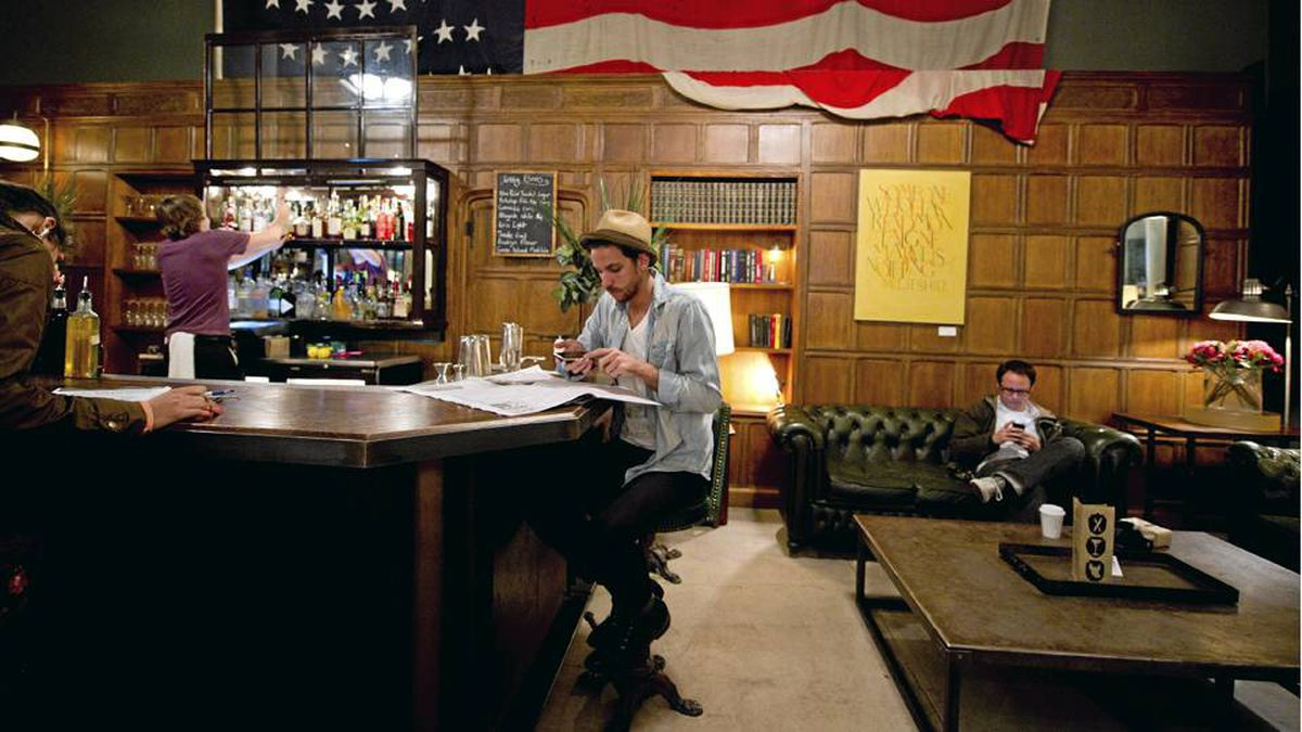 Midafternoon at The Ace Hotel in New York. The ACE is one of many hotels trying to boost the bottom line by turning its lobby bar into a chic, see-and-be-seen meeting spot in midtown Manhattan.