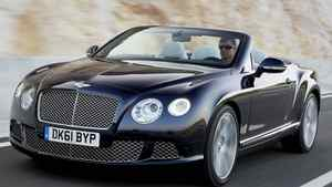 The 2012 Bentley Continental GTC has a 6-litre twin-turbocharged W12 engine which makes 516lb/ft of torque.