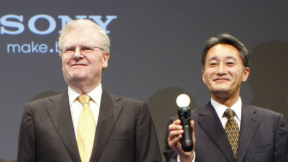 File photo of Sony Corp. CEO Howard Stringer, left, Kazuo Hirai, who will become the company's new chief executive in April.