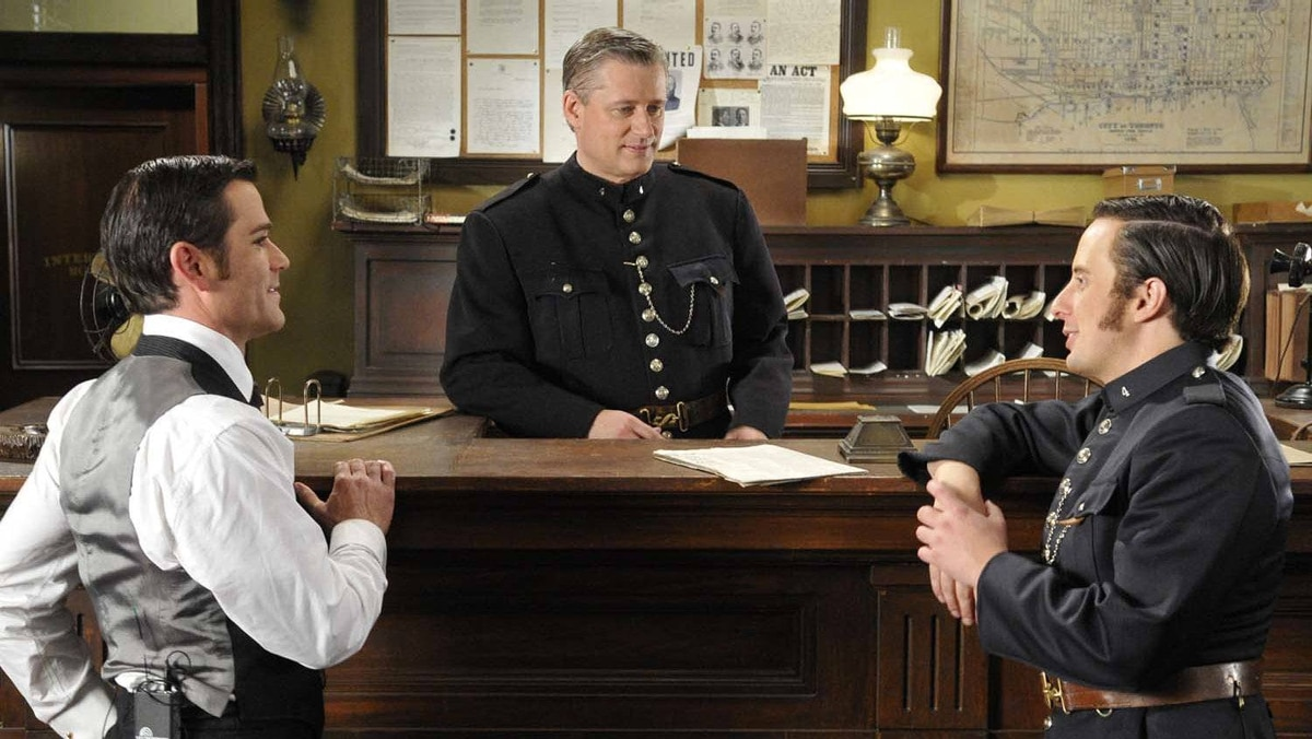 """Prime Minister Stephen Harper made a cameo on CityTV's """"Murdoch Mysteries"""" this season."""