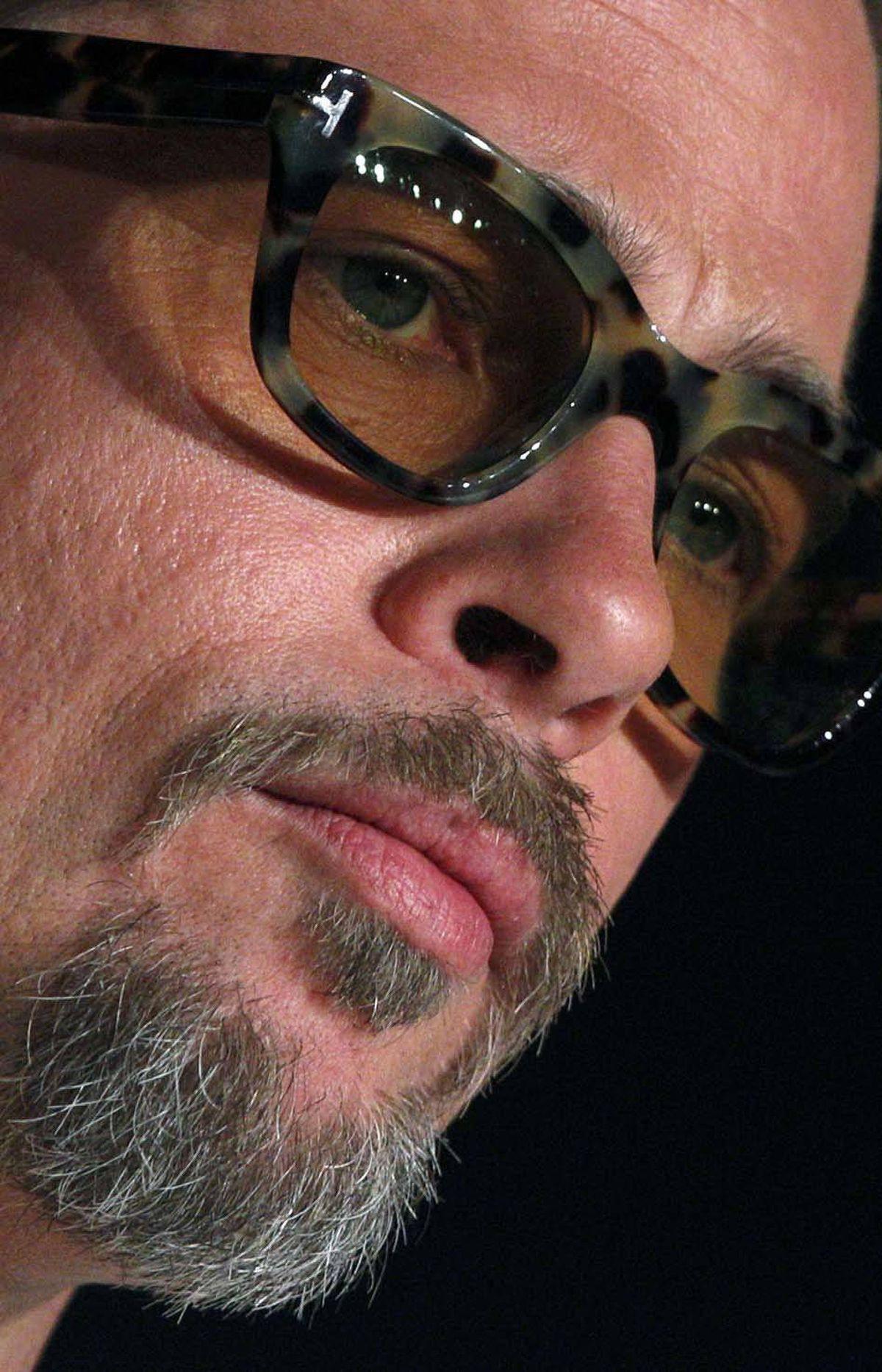 Brad Pitt has grey in his beard. The end.