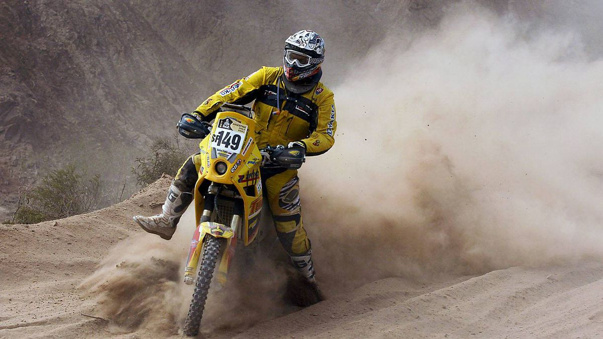 Slovakia's Dusan Cipka races his BMW in the fourth stage of the 2012 Argentina-Chile-Peru Dakar Rally between San Juan and Chilecito, Argentina, Wednesday Jan. 4, 2012.