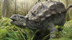 """Detail from a page in the children's book """"Ankylosaur Attack"""""""