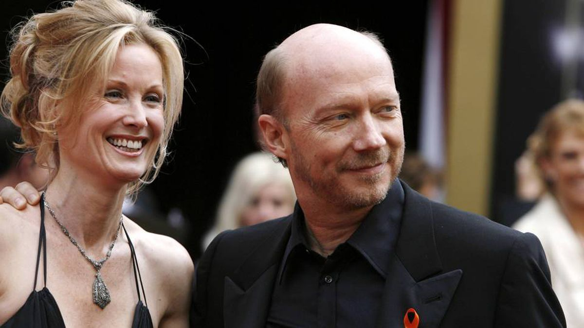 Director Paul Haggis and his wife Deborah Rennard at the 2008 Academy Awards in Hollywood. Lucas Jackson/Reuters