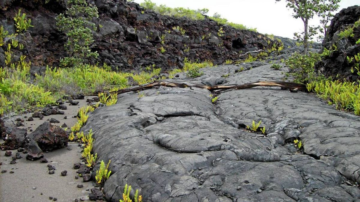 Continual eruptions in Hawaii Volcanoes National Park can make roads impassable.