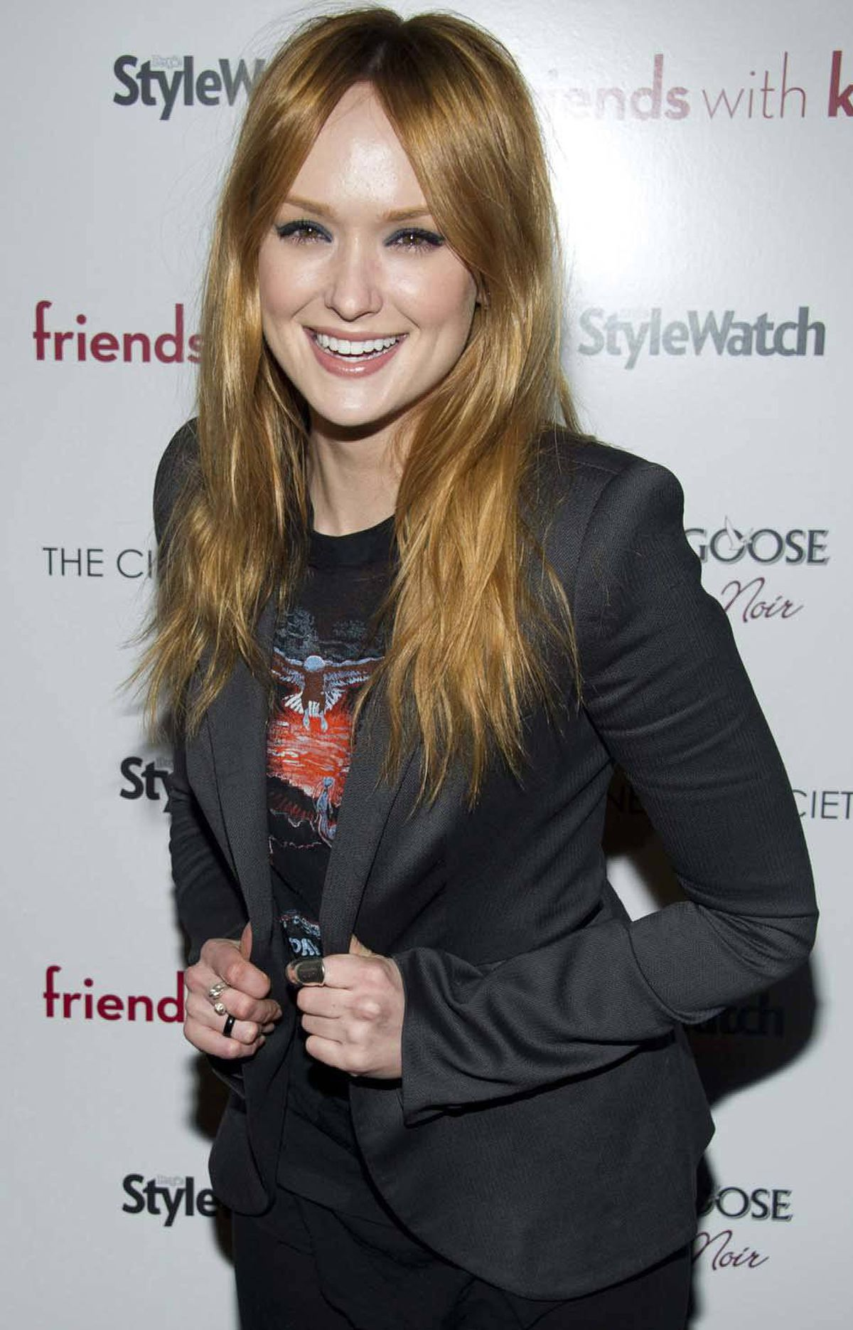 """Hey, Canadian voters, you might want to toughen up a bit,"" says Kaylee DeFer at a screening of ""Friends with Kids"" in New York on Monday."