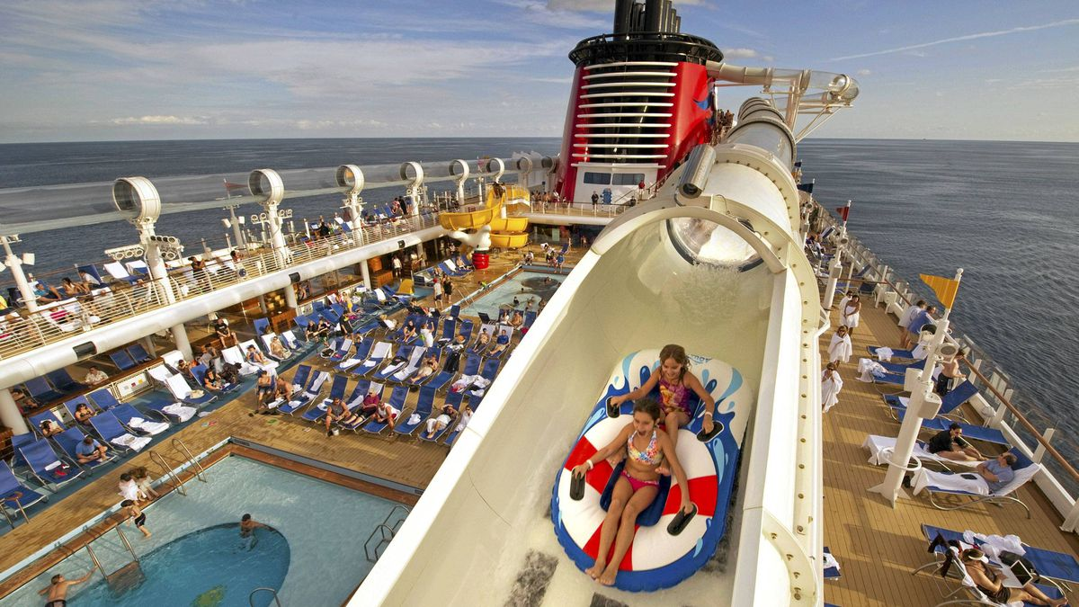The AquaDuck on the Disney Dream is the first-ever shipboard water coaster.