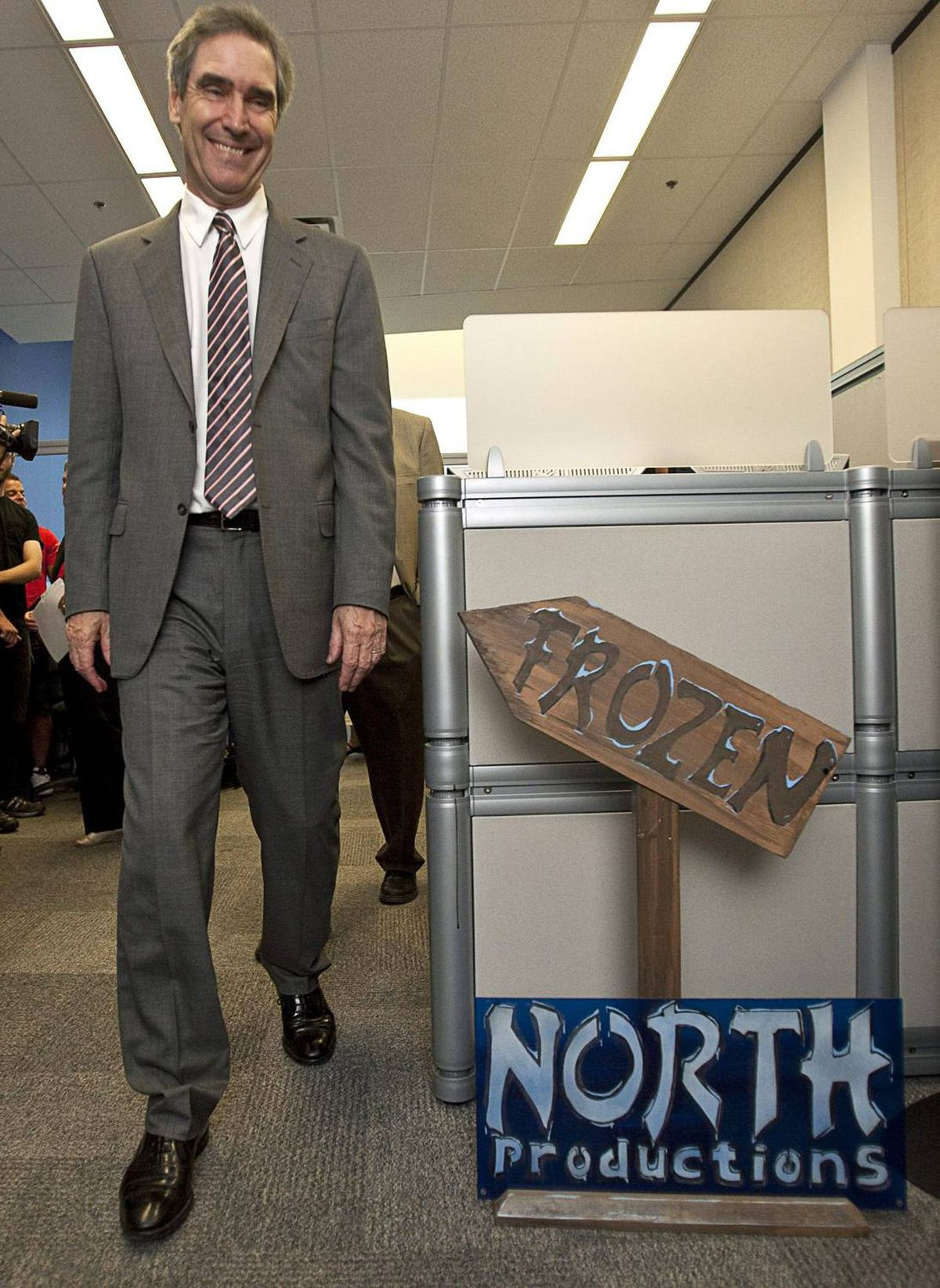 The Liberal Leader also visited video-game developer Frozen North Productions at the Accelerator Centre in Waterloo, Ont.