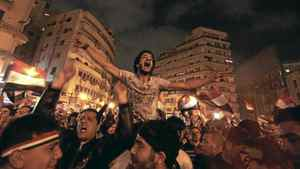 Anti-government protesters celebrate in Tahrir Square after the announcement of Egyptian President Hosni Mubarak's resignation in Cairo Feb. 11, 2011. A furious wave of protest finally swept Mubarak from power on Friday after 30 years of one-man rule, sparking jubilation on the streets and sending a warning to autocrats across the Arab world and beyond. Young Arabs – the ones who came of age in the wake of 9/11 and, not coincidentally, led the Arab Spring uprisings – speak of shared beliefs in secular democracy, a kinder, gentler form of capitalism and a charter of rights not dependent on faith.