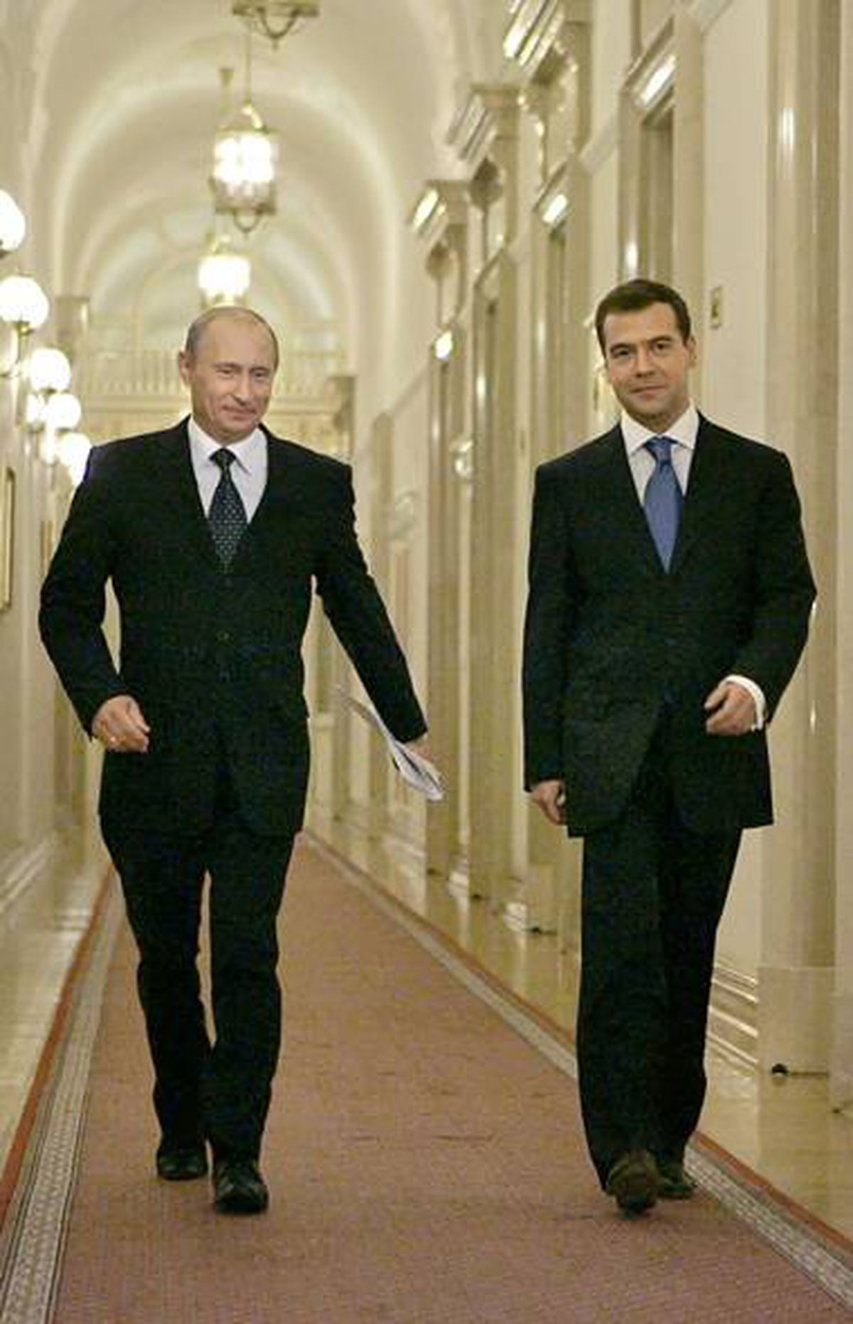 """RUSSIA: Russian Prime Minister Vladimir Putin is an """"alpha-dog"""" ruler of a deeply corrupt state dominated by its security forces, U.S. diplomatic documents said. By contrast, President Dmitry Medvedev """"plays Robin to Putin's Batman."""""""