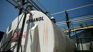 A storage container of ethanol at the Iogen plant in Ottawa. (File ohoto)