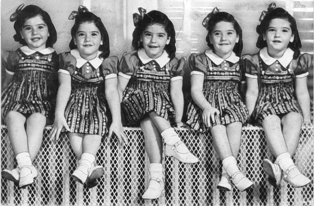 dionne quintuplets Allan roy dafoe with the dionne quintuplets in 1938 modern medical fertility treatments have increased the number of multiple births and turned such births into, if not a common occurrence, than certainly more than a rarity according to the statistical data presented on one website, almost 36.