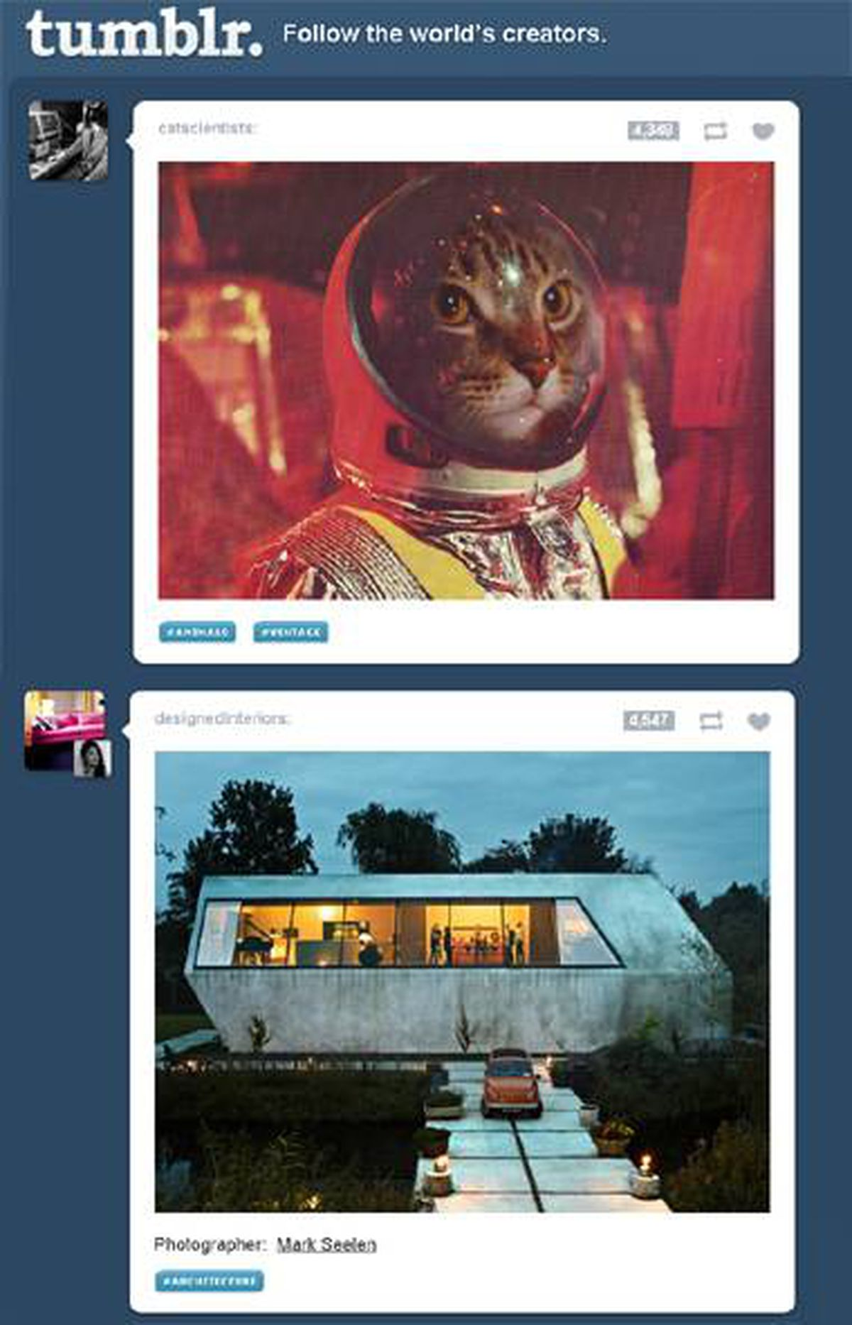 "TUMBLR WHAT: A blogging service that allows for mixed media posts, such as pictures with short captions. ""It's in the same space as Pinterest,"" said John Lilly of Greylock Partners, who worked on the $50-million funding round that Instagram wrapped up just before its sale to Facebook. ""But it's significantly bigger than Pinterest is on almost every single metric."" FUNDING: $125-million from Greylock, Sequoia and others. In September 2011, Tumblr was valued at $800-million. KEY FACT: High level of engagement, with users creating 14 original posts each month on average, Tumblr says. WHO: Founder David Karp, doing Harvard drop-outs like Facebook CEO Mark Zuckerberg one better, quit the Bronx High School of Science at age 15. Spark Capital and Union Square Capital were two of Tumblr's earliest investors, as they were at Twitter."