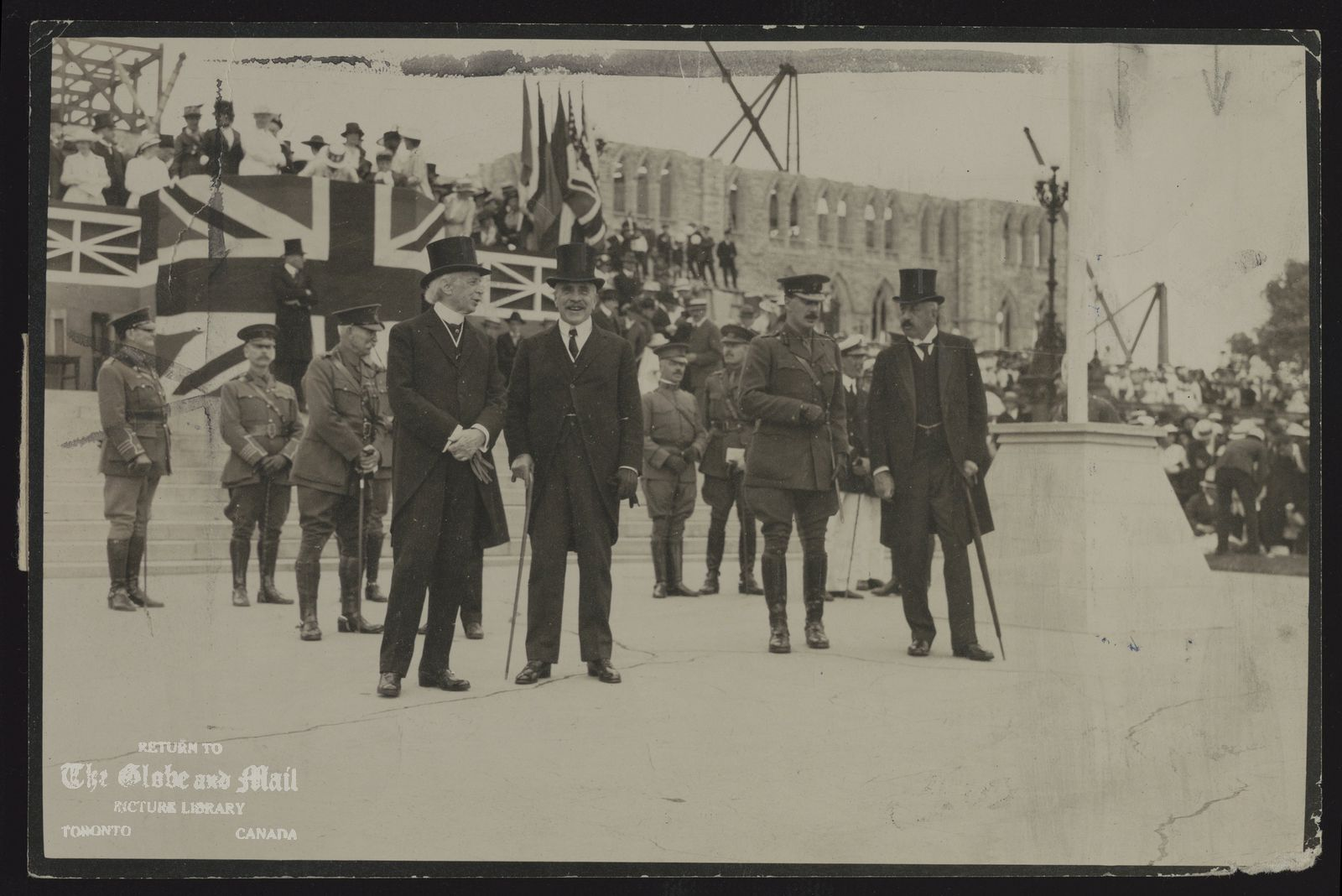 Sir Wilfrid Laurier at the 1911 Imperial Conference in June. Photographic Service of British & Colonial Press Ltd. Toronto, Canada.