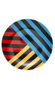 TREND: BOLD Techno triple stripe plate by CB2, $4.95 through www.cb2.com.