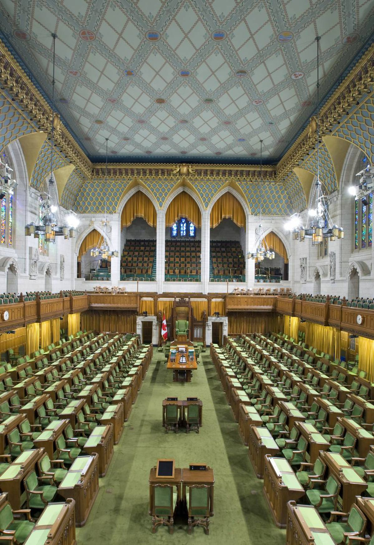 The House of Commons lies empty Thursday after the summer recess.