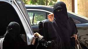 Saudi women exit a car in Riyadh on September 26, 2011 a day after King Abdullah granted women the right to vote and run in municipal elections, in a historic first for the ultra-conservative country where women are subjected to many restrictions.
