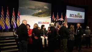 The crowd starts to gather at a the BC Liberal Convention in Vancouver Feb. 26, 2011.