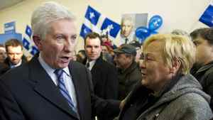 "Gilles Duceppe unveiled his campaign theme for the Bloc Québécois on Monday. ""Parlons Quebec,"" or ""Let's talk Quebec,"" urges voters to talk about Quebec's culture, nationhood, interests and values. But the campaign literature does not talk about Quebec sovereignty. He bristled when this was pointed out, saying, ""Do other parties announce in their advertising that they're federalist? People know who we are."""