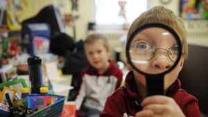Children in a senior kindergarten class at St. Thomas More Catholic School in Scarborough, Ont., in this Dec. 8, 2009 file photo.