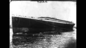 The Titanic is launched into the River Lagan for towing to a fitting-out berth where her engines, funnels and interiors would be installed, May 31, 1911.