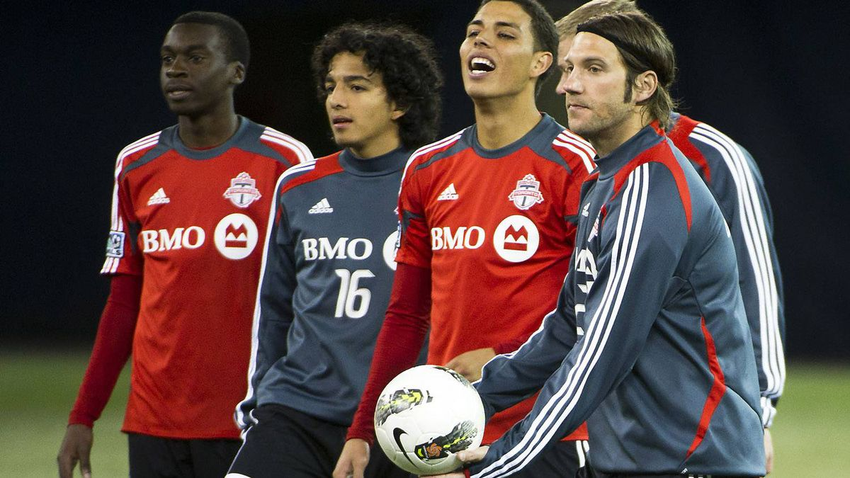 Members of the Toronto FC practise ahead of the biggest game in franchise history.