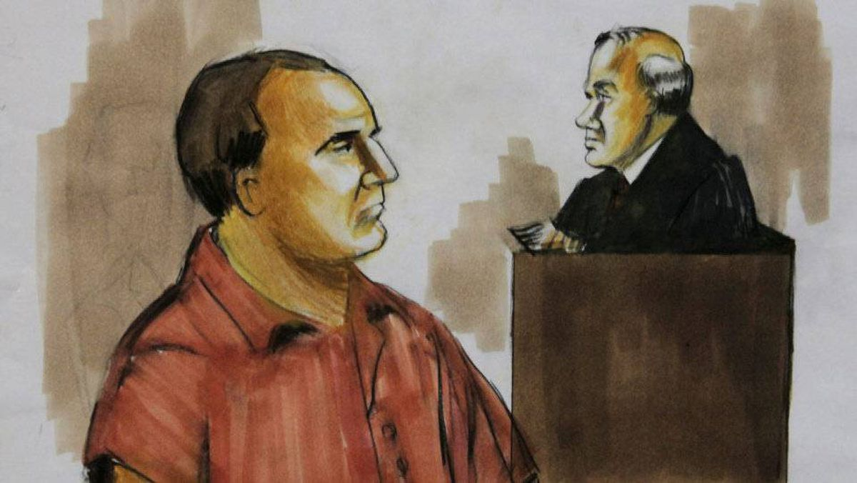 David Headley pleads not guilty before U.S. District Judge Harry Leinenweber on Dec. 9, 2009, in Chicago to charges accusing him of conspiring in the deadly 2008 terrorist attacks in Mumbai and of planning to launch an armed assault on a Danish newspaper. Mr. Headley changed his plea to guilty on March 18, 2010.