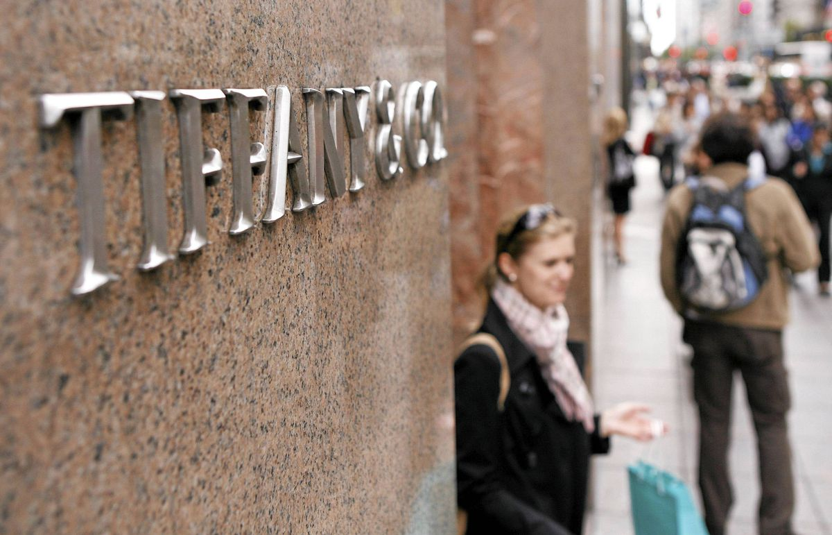 Tiffany's flagship Fifth Avenue store in Manhattan was among those reporting lower holiday sales.
