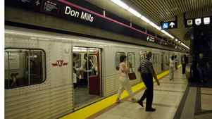 The Sheppard subway line's Don Mills Station.
