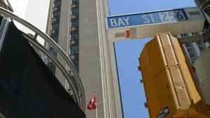 Several of the office towers being bought by Dundee REIT are along Toronto's Bay Street, in the city's financial district.