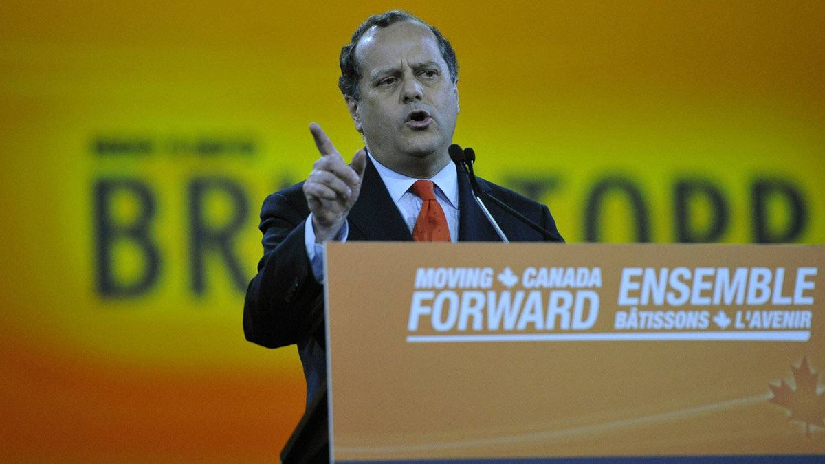 Candidate Brian Topp speaks at the NDP leadership convention at the Metro Toronto Convention Centre in Toronto, Ont. Friday, March 23, 2012.