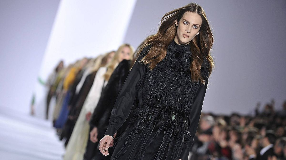 Models walk the runway during the Chloe Ready to Wear Autumn/Winter 2011/2012 show during Paris Fashion Week at Espace Ephemere Tuileries on March 7, 2011 in Paris, France.