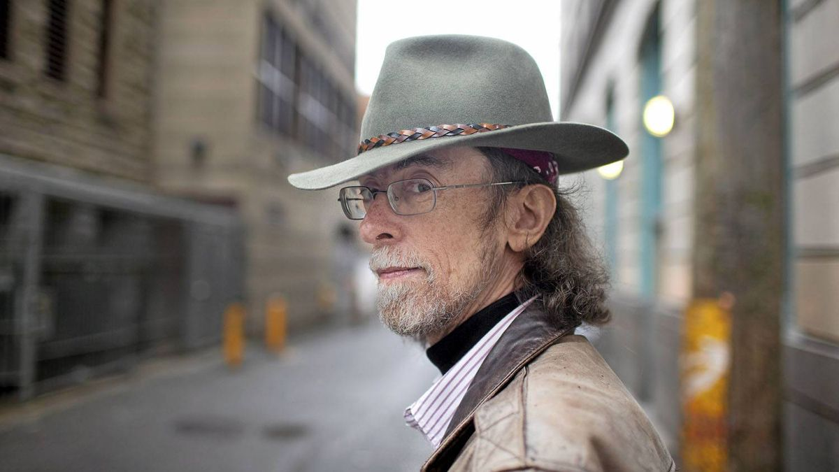 Author Spider Robinson, pictured in an alley behind Main and Hastings in Vancouver, believes drugs should be legalized.