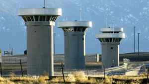 Guard towers loom over the administrative maximum security facility, the highest security area at the Federal Prison in Florence, Colo., Wednesday, Feb 21, 2007