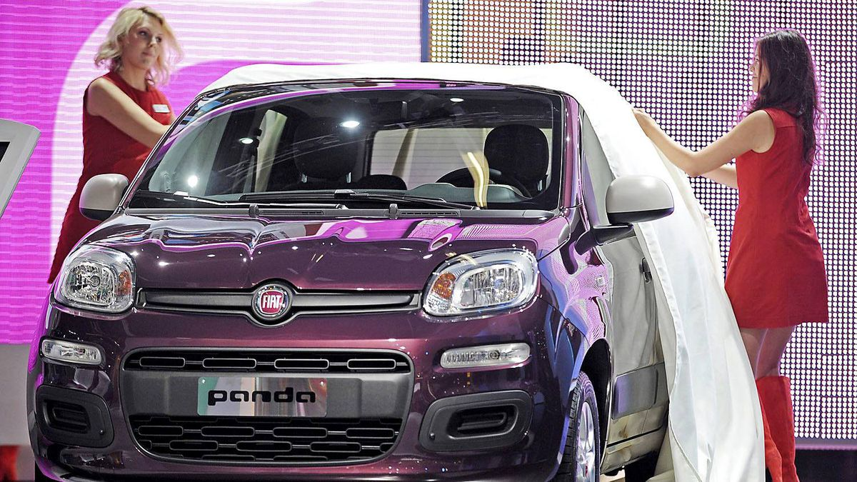 The new Fiat Panda is unveiled during the press day at the 64th Frankfurt Auto Show in Frankfurt, Germany, Tuesday, Sept.13, 2011.