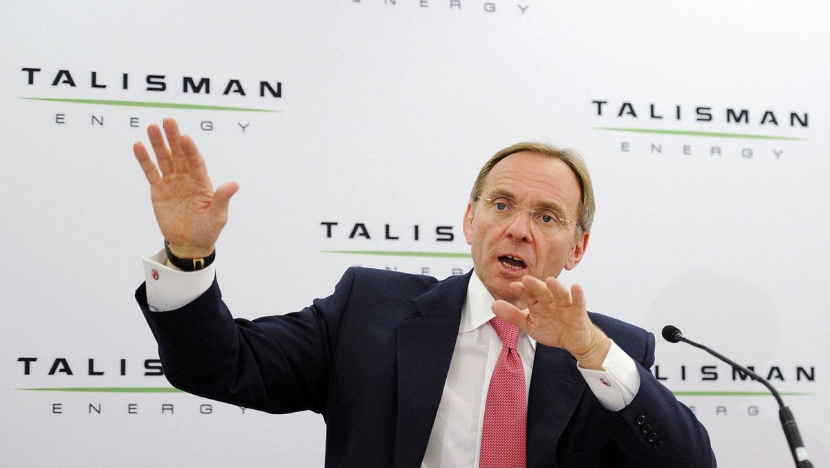 John Manzoni, president and Chief Executive Officer of Talisman Energy.