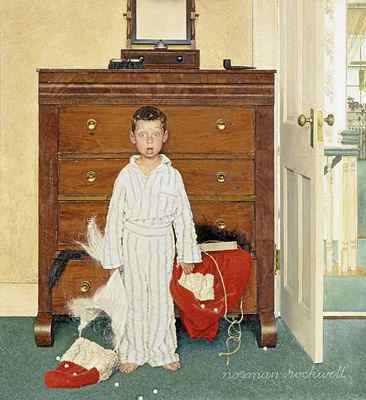 The Discovery Rockwell painted this image for a cover illustration for The Saturday Evening Post, Dec. 29, 1956.