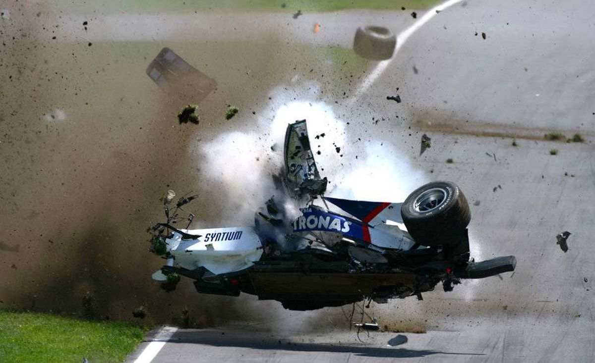 Robert Kubica: In the 2007 Canadian Grand Prix, Robert Kubica escaped a 300 kilometre per hour run into a wall and a cartwheel down the track with only a sore ankle and a concussion. He missed one race.