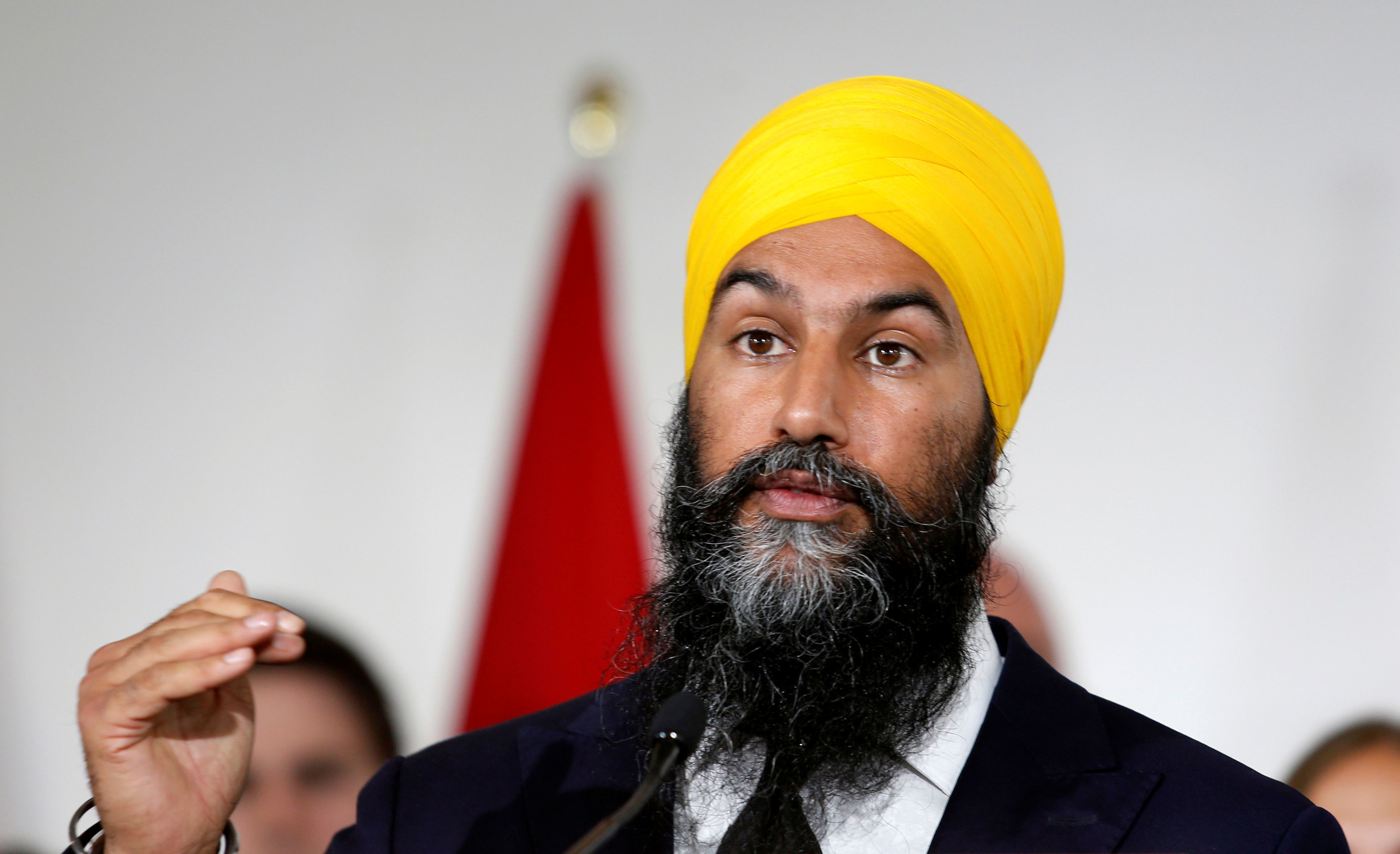 NDP Leader Jagmeet Singh promotes national pharmacare, extending public  health care in campaign launch - The Globe and Mail