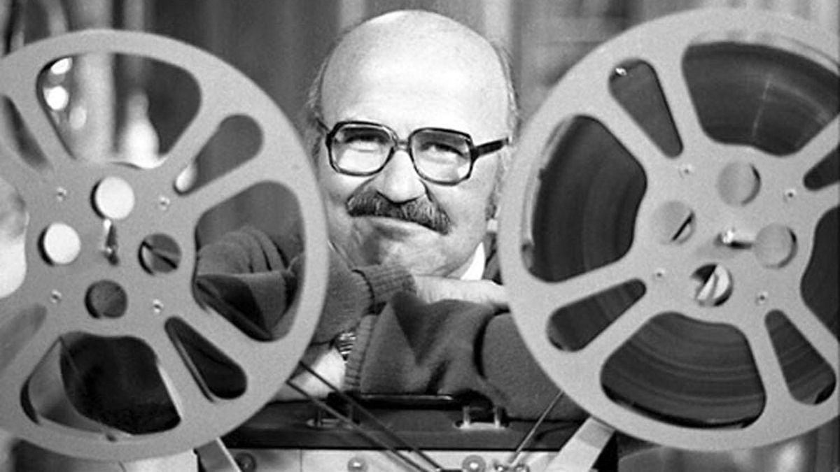 Elwy Yost, former host of TVOntario's Saturday Night at the Movies, is seen in an undated file photo.